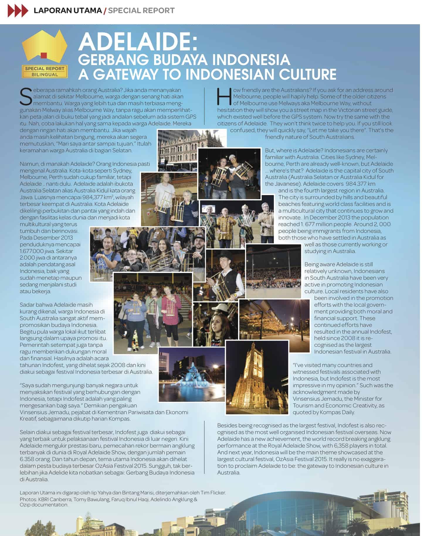 adelaide- gerbang budaya indonesia
