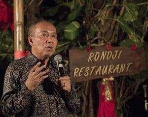 Bondan Winarno salah satu pembicara di Ubud Festival