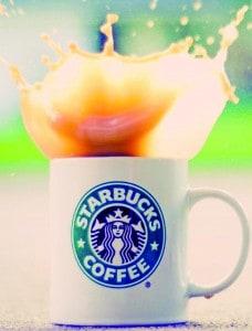 Splashing-Starbucks-Coffee