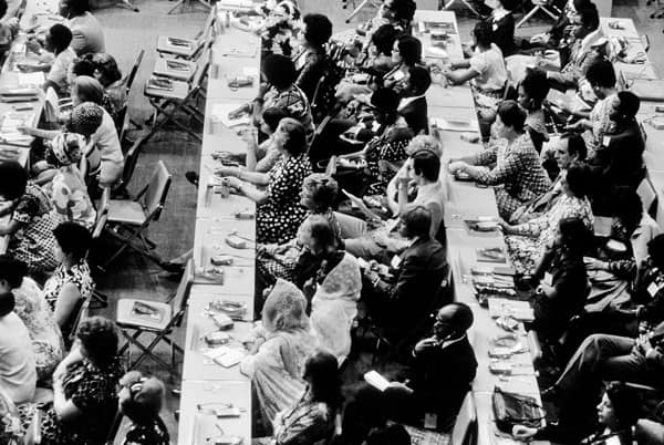 19 June 1975. United Nations World Conference of the International Women's Year, Mexico City