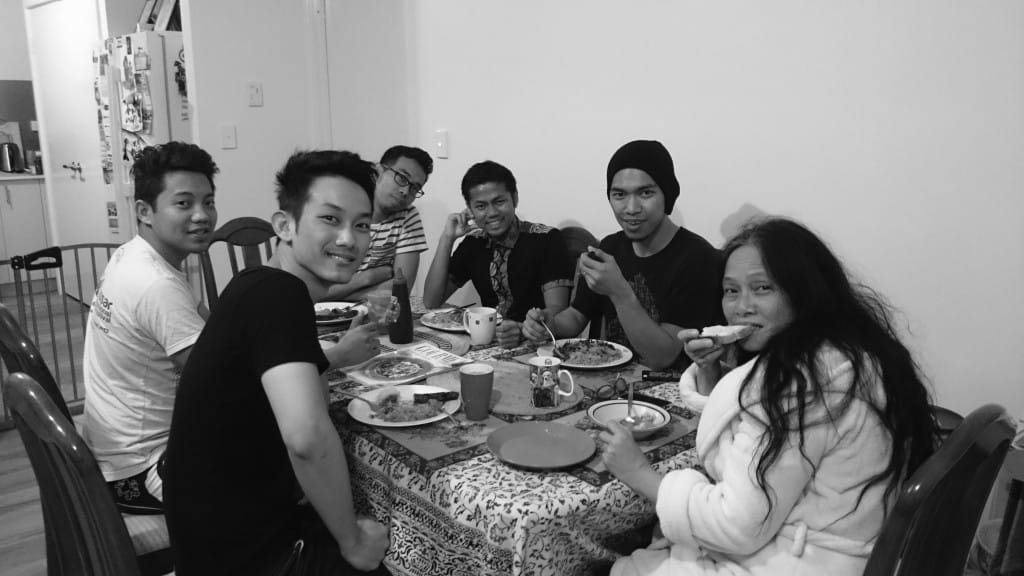 Morning Sahur at 5am with friends. Photo: Torgis Pramana Putra