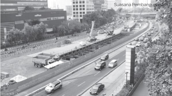 Asril_Jakar - Suasana Pembangunan MRT