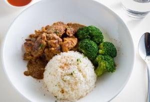 Chicken Satay on Rice (1)